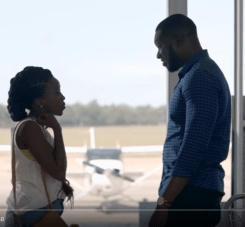 MTV Shuga Episode 1_Bongi and Femi talk in the airport