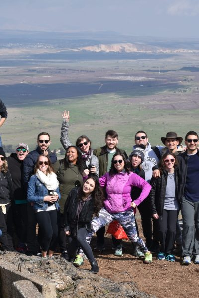 My birthright group in the Golan Heights