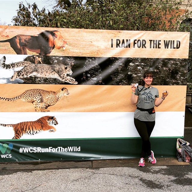 Me after the Run For the Wild 5k at the Bronx Zoo