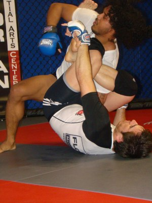 Benson Henderson and Kenny Florian sparring at Florian MAC