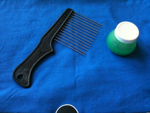 Afro Master Afro Pick and Afro Sheen