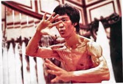 Bruce Lee about to make a move