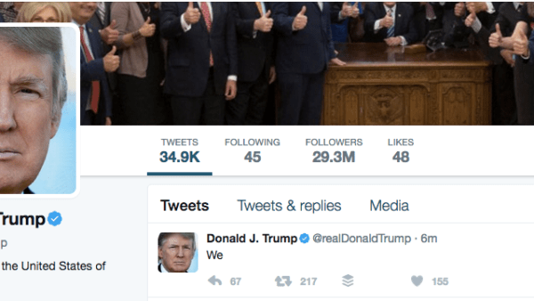 Trump Tweets One Word In Error and Generates 217 ReTweets Before Tweet Disappears Does @RealDonaldTrump have an autoresponder for generating likes?