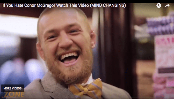 conor mcgregor laughing like a leprechaun