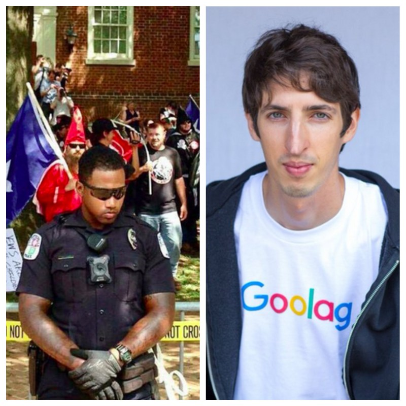 black policeman and james damore goolag
