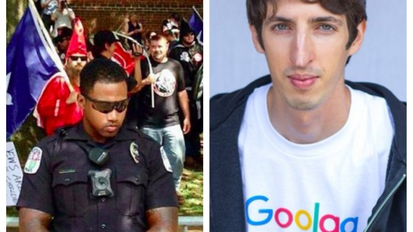 Goolag? Is Google that bad? There are worse jobs, James Damore! Wearing a goolag tshirt, Damore focused uncomfortable attention on former employer, Google regarding diversity. Then, Charlottesville happened. James-who?