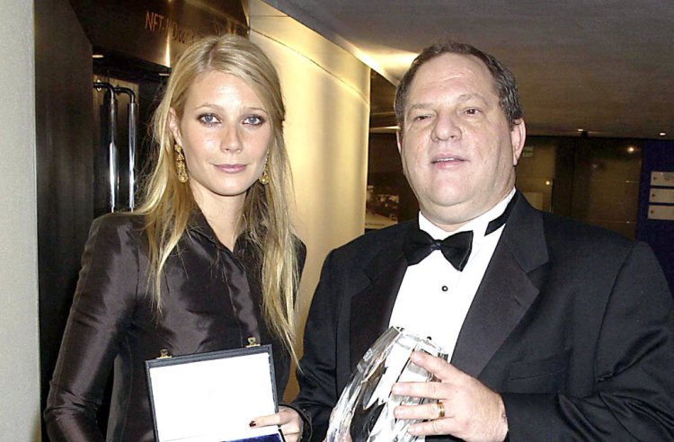 UNITED KINGDOM - OCTOBER 20: Gwyneth Paltrow And Harvey Weinstein, The 50th Anniversary Gala Of The National Film Theatre, At The National Film Theatre, London (Photo by Dave Benett Getty Images)