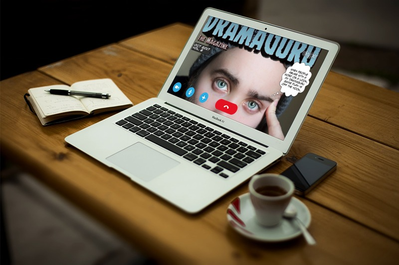 loonapix dramaguru magazine Oct 2017 on macbook air