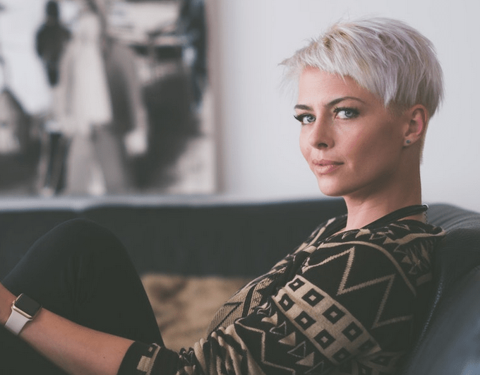 unsplash woman white hair
