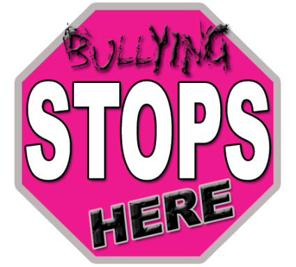 in the shape of a stop sign - bullying stops here