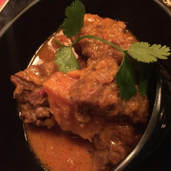 Beef Rending (with sweet potato chunks)