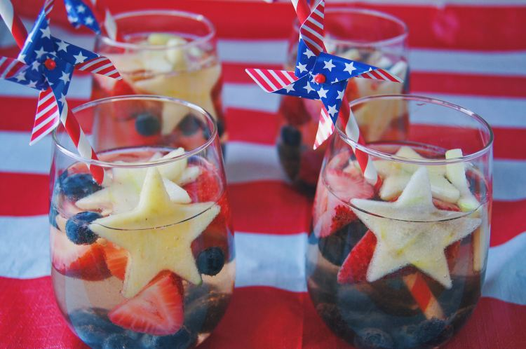 Red White and Blue Sparkling Sangria front close