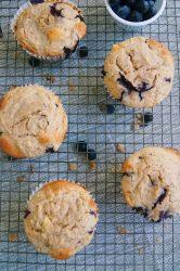 Jumbo-Lemon-Blueberry-crumb-muffins-wire-rack-overhead