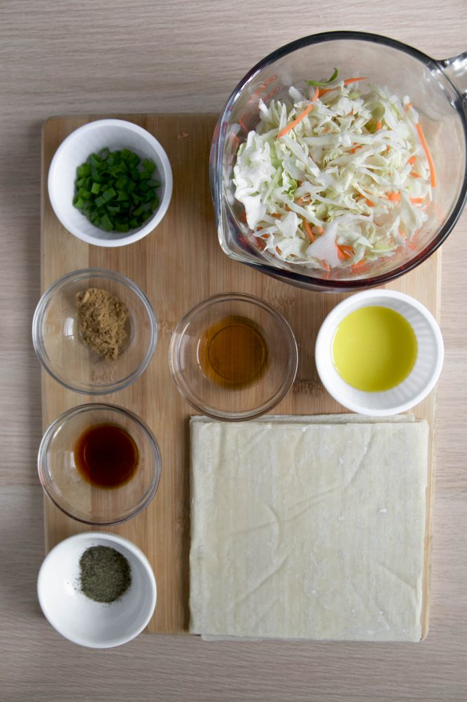 Air Fryer egg rolls ingredients