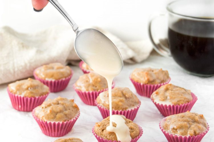 Mini Chai Muffins with Vanilla Glaze 5