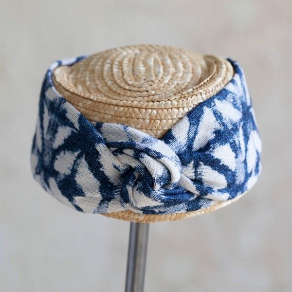 Turbante Natural y Azul