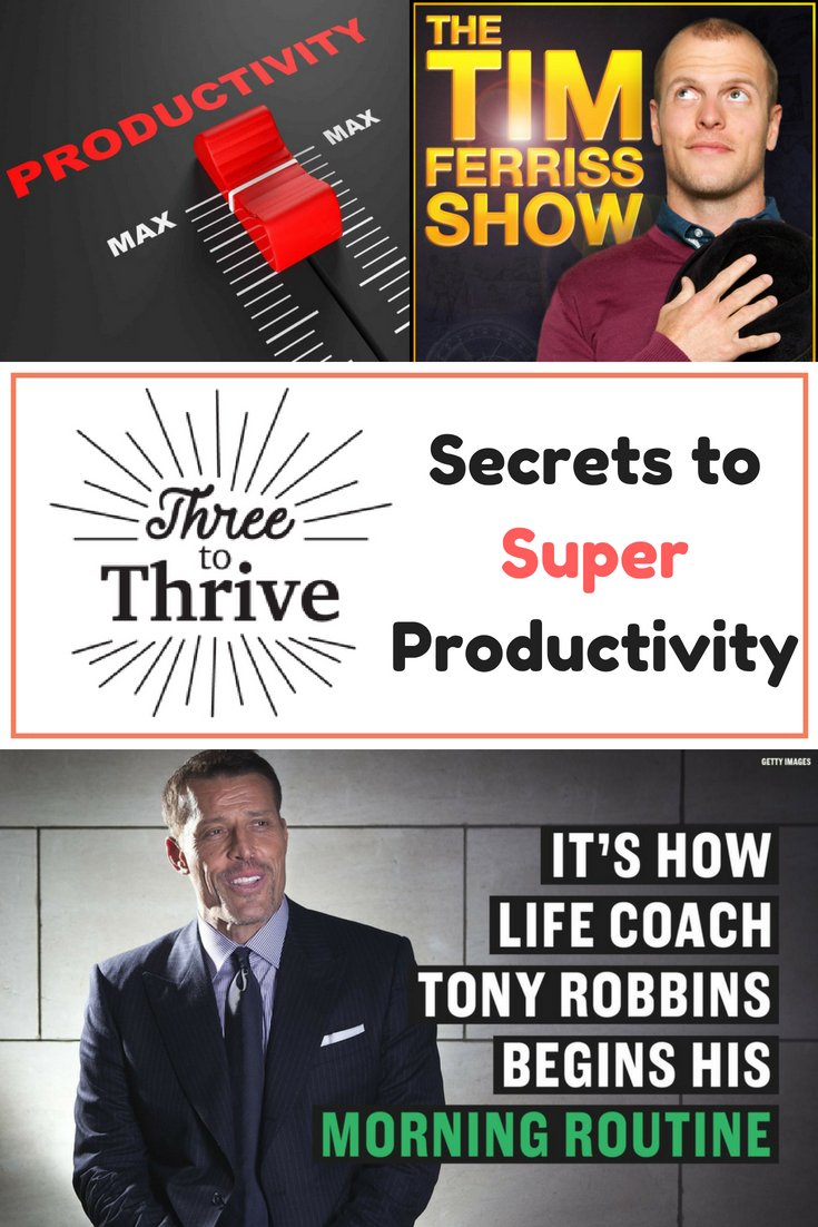 Tony Robbins Three to Thrive