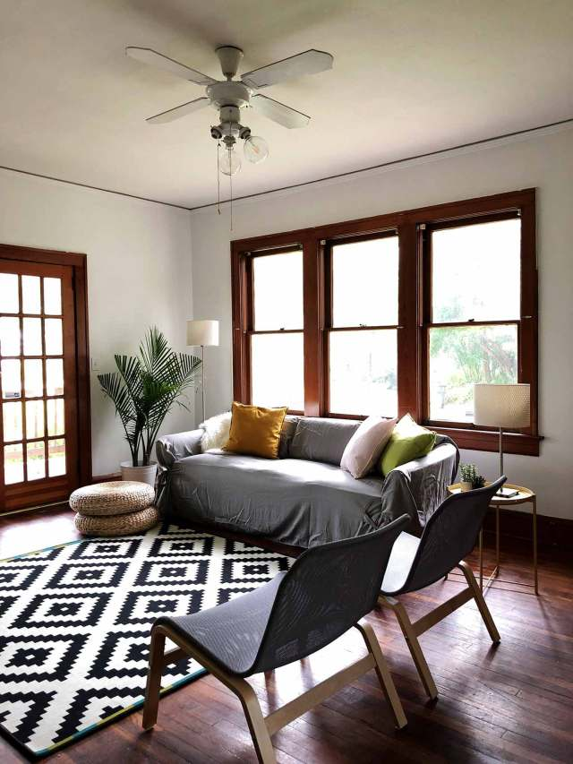 A Modern, Minimalist Living Room Makeover on a Budget