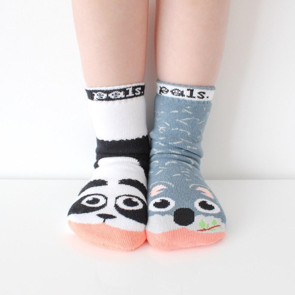 sokken, mismatch, mismatch sokken, antislipsokken, kinderen, kinderstokken, panda, koala, The Sock Shop, Pals Socks, antislipsokken voor kinderen, thathomepage