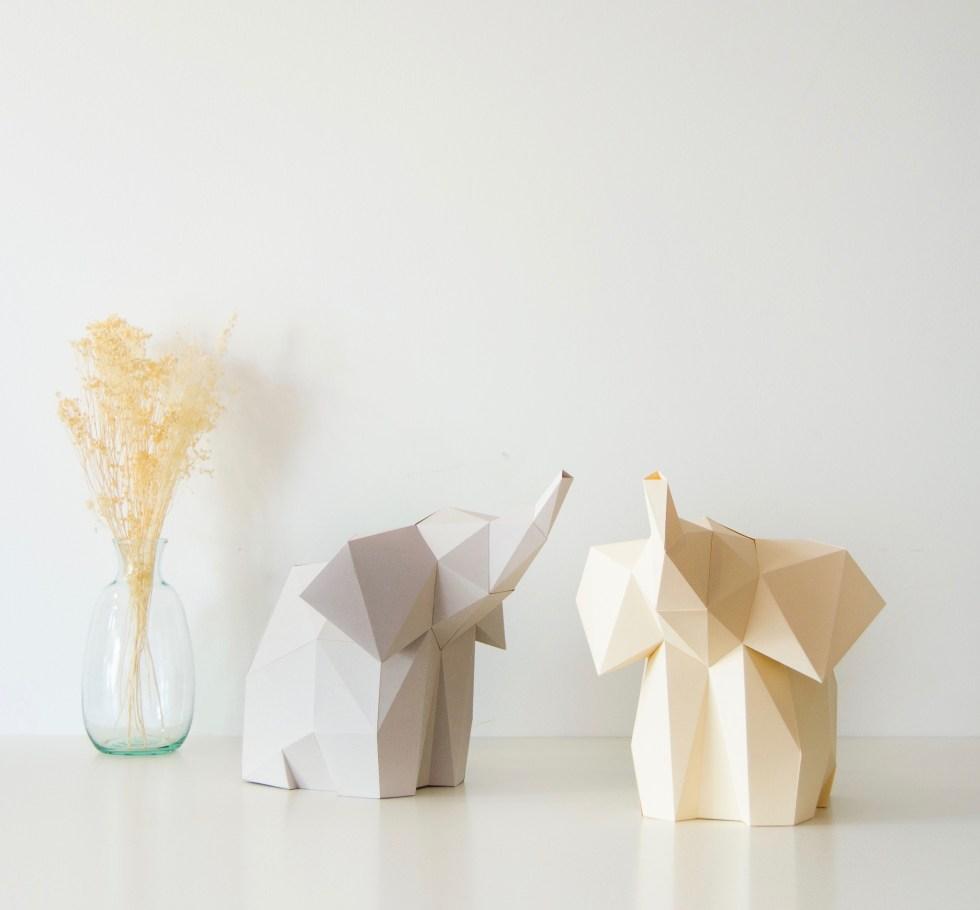 OWL Paperlamps, paperlamps, lamp of paper, elephant lamp, baby elephant, diy paper lamp, papieren lampen, interieurinspiratie, thathomepage