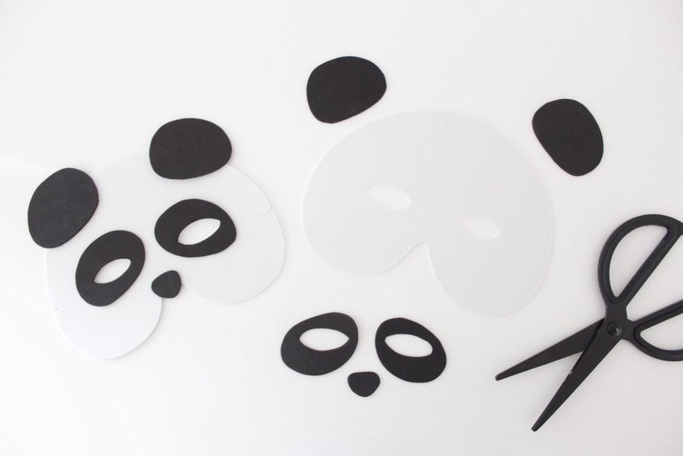 dierenmasker, dierenmaskers, pandamasker, foam masker, foam dierenmasker, knutselen, kinderfeestje, pandafeestje, activiteiten kinderfeestje, inspiratie, thathomepage