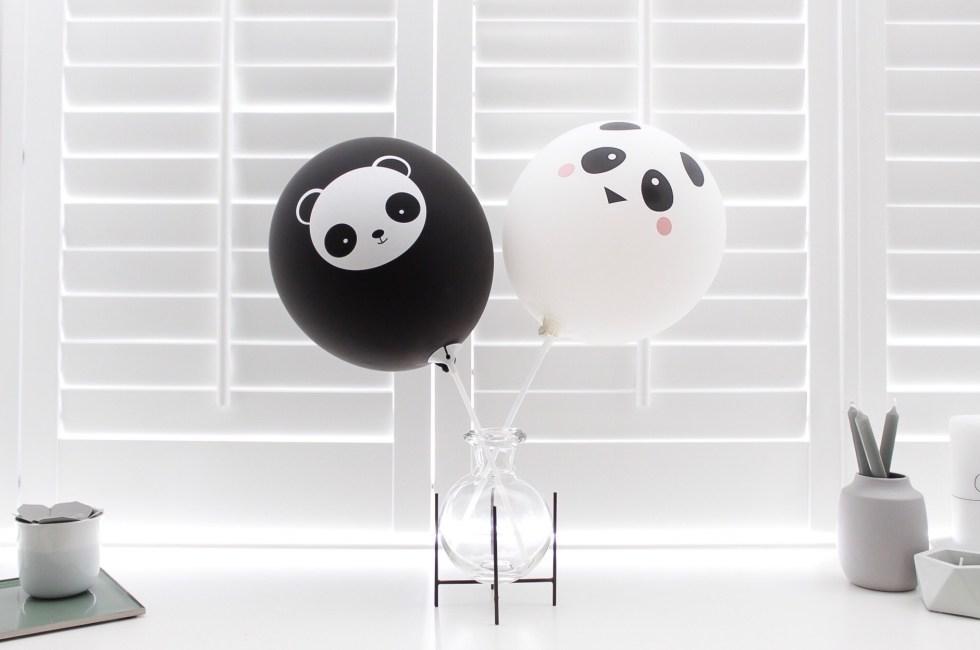 pandaballonnen, pandafeestje, kinderfeestje, feestdecoratie, decoratie kinderfeestje, inspiratie, thathomepage