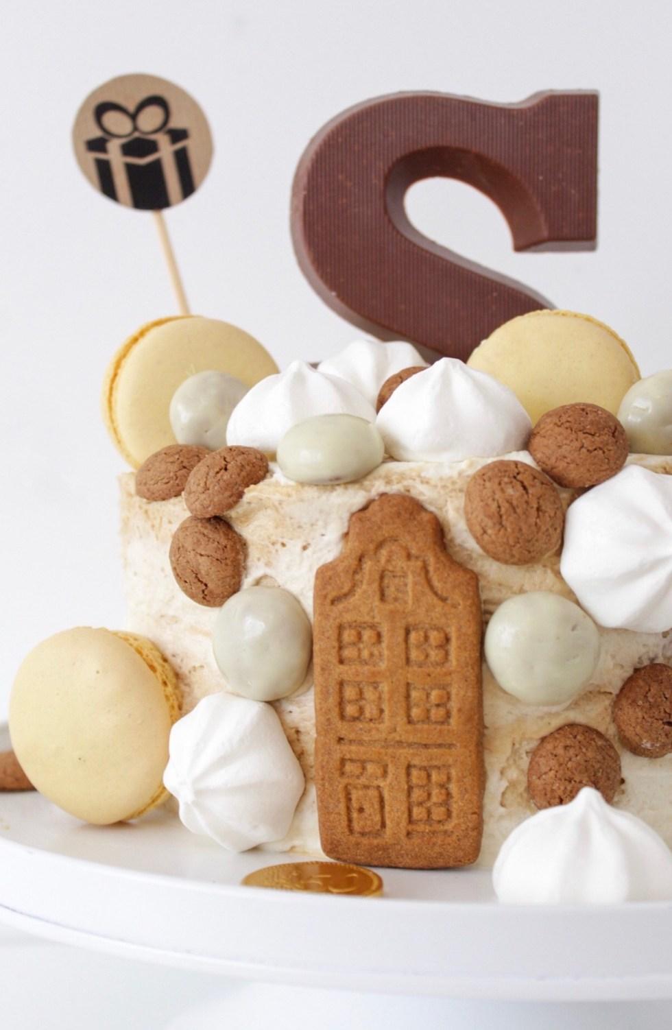 Sinterklaastaart, Sinterklaas, Sinterklaas taart, taart, taart decoreren, taart maken, kant-en-klare taart, taart decoratie, snelle taart, hazelnootschuimtaart, inspiratie, thathomepage, (th)athomepage