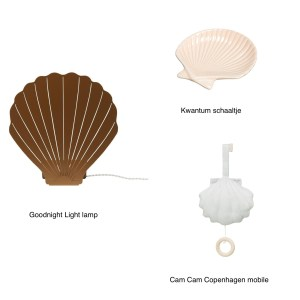 schelp lamp, Goodnight Light, shell lamp, cam cam, cam cam copenhagen, shell mobile, schelp schaaltje, Kwantum