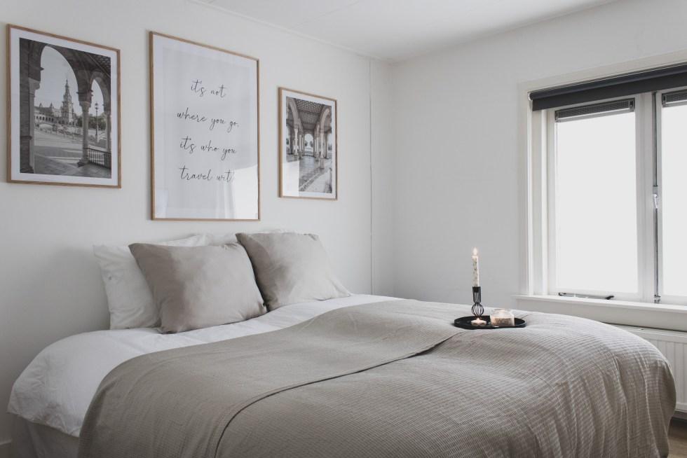 slaapkamer, make-over, slaapkamerinspiratie, interieurinspiratie, slaapkamer inrichting, Gallerix, lijsten, wanddecoratie, beddengoed, interieurblog, thathomepage, (th)athomepage, slaapkamer make-over