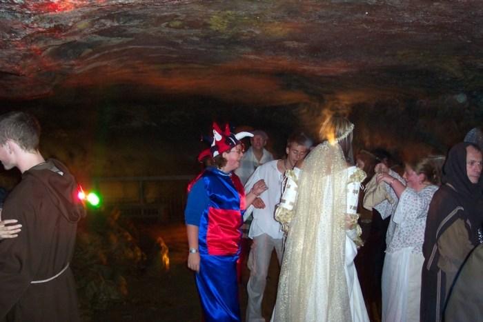 Disco in the Castleton Cavern
