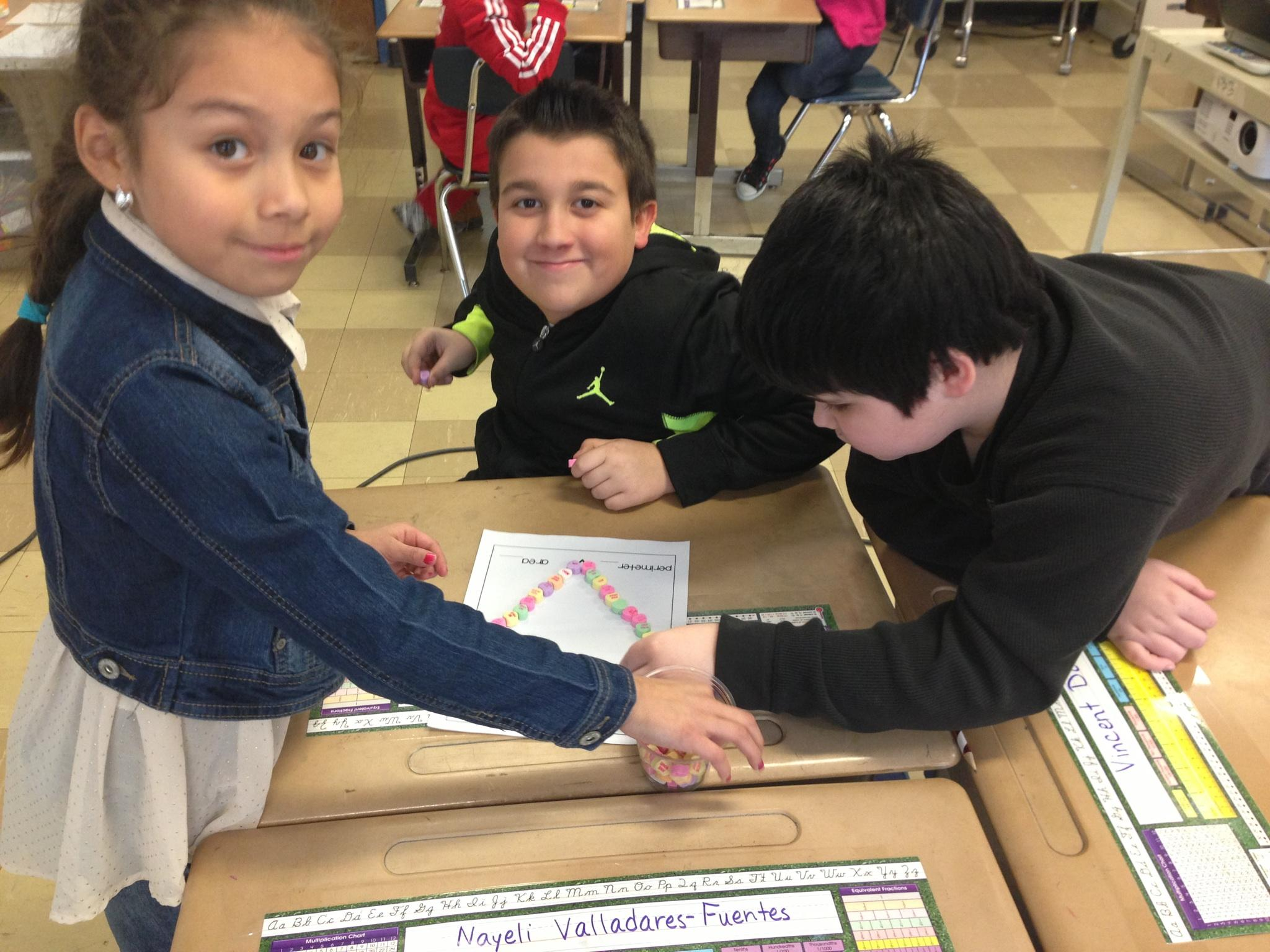 Fourth Grade Candy Heart Experiment