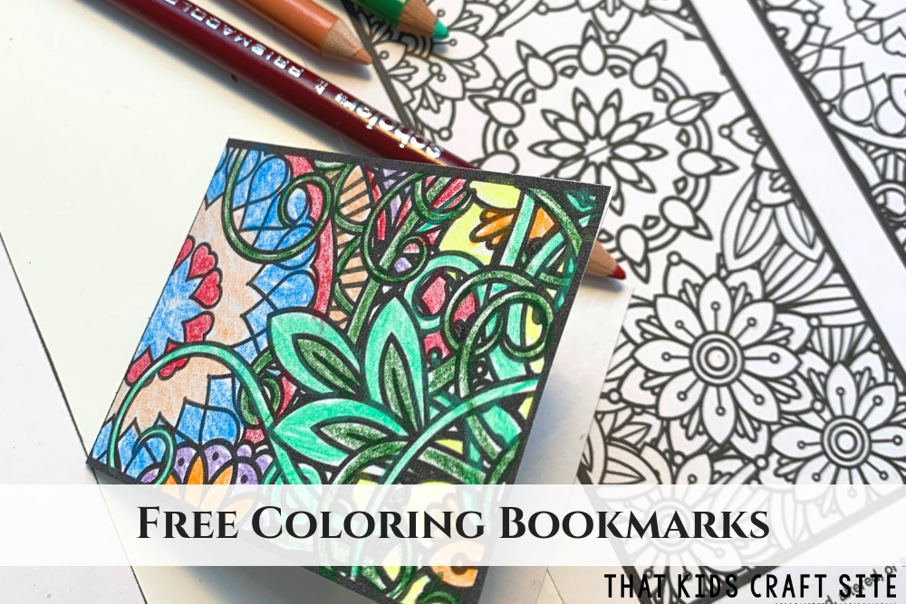 free printable bookmarks to