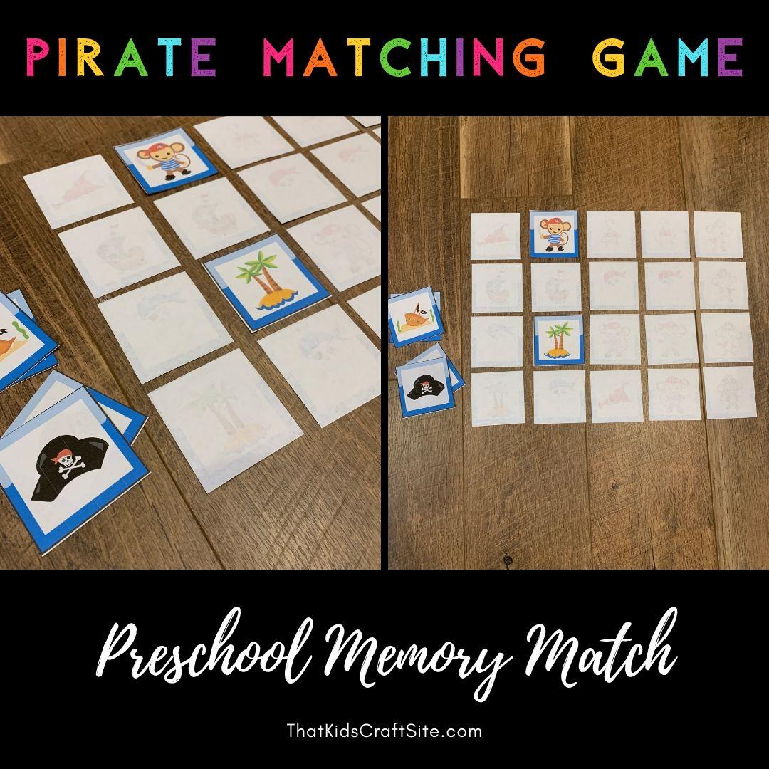 Pirate Matching Game