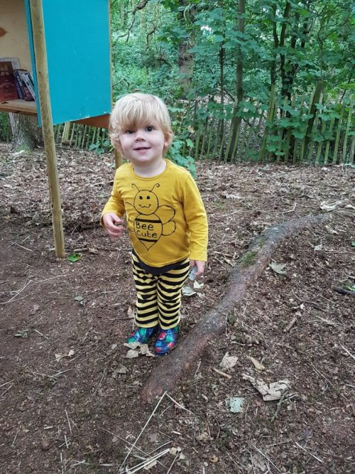 toddler dressed as a bee
