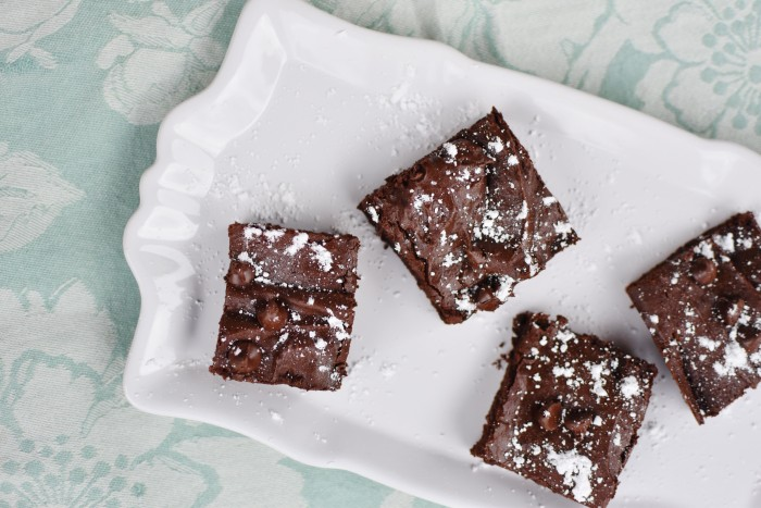 healthy brownies with a secret ingredient