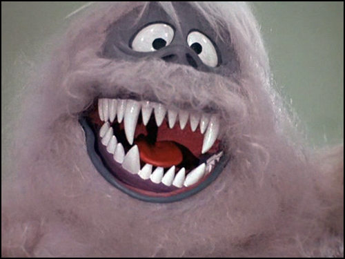 Rudolph the Red Nosed Reindeer  Abominable showing teeth
