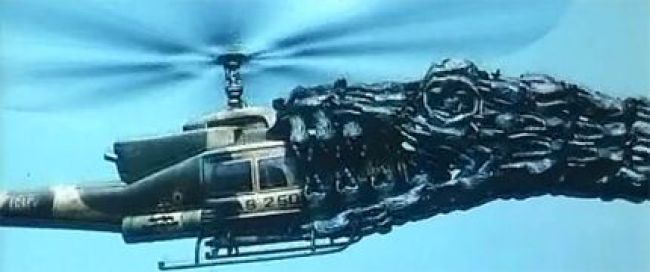 Monster versus Helicopter
