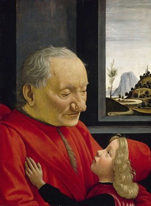 Domenico Ghirlandaio, 1490, An Old Man and his Grandson, Louvre