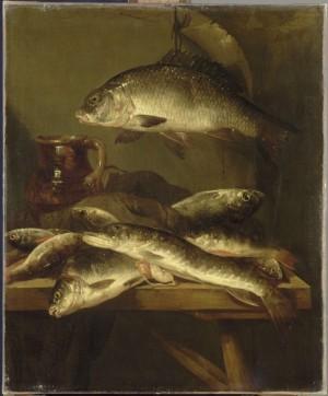 """Still life with Carp"" by Abraham van Beyeren, Louvre"