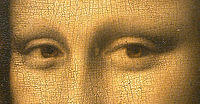 La Joconde's, or Mona Lisa's, eyes at the Louvre