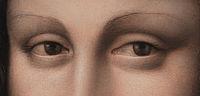 La Gioconda's Eyes in the Prado's version