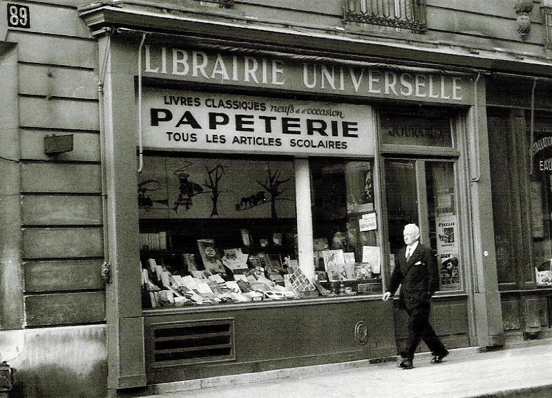 A Parisian book shop in the 1940s
