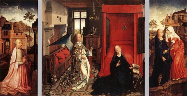 Annunciation 1440, Rogier van der Weyden