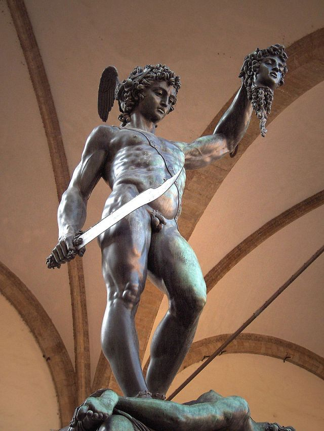 Cellini's statue of Perseus with the head of Medusa
