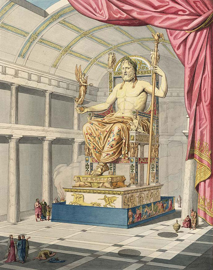 Statue of Zeus holding Goddess of Victory