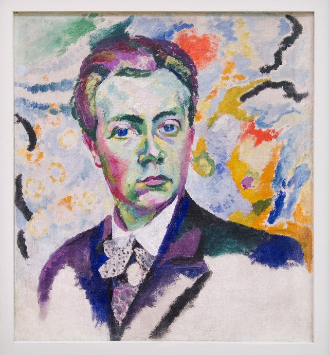 Unfinished self-portrait by Robert Delaunay
