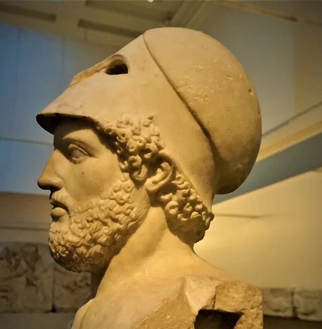 Bust of Pericles at the British Museum