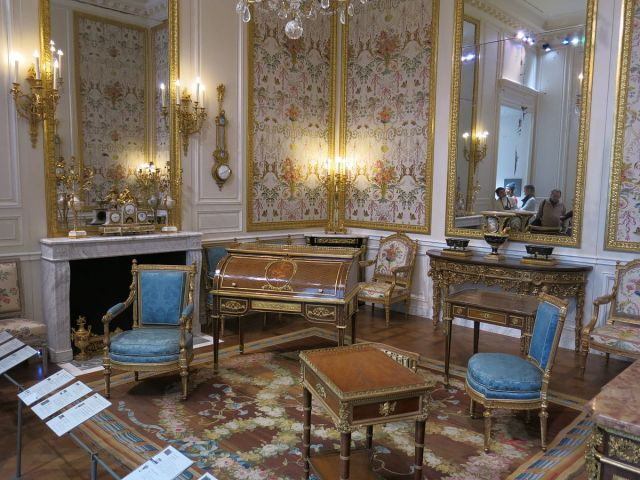 The Marie Antoinette Room at the Louvre.