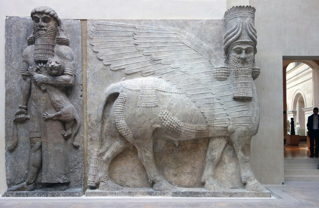 human headed bulls, Lamassus