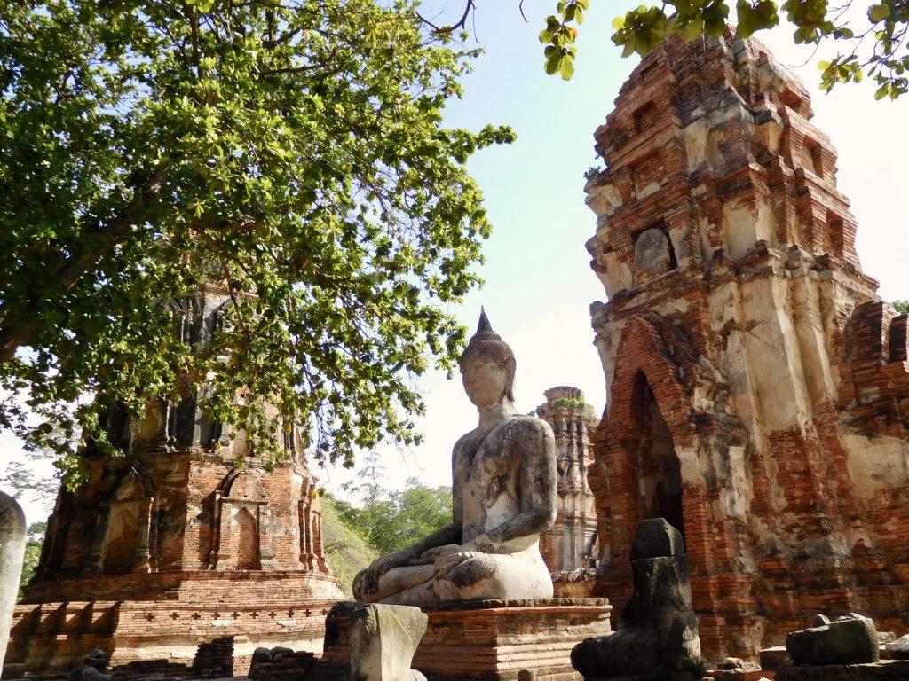 Het iconische Wat Phra Mahathat, Ayutthaya Thailand